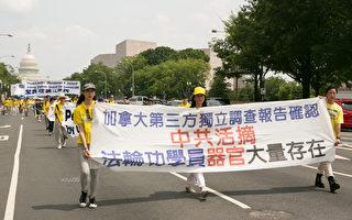 """2017年7月20日,来自美东地区的部分法轮功学员在美国首都华盛顿DC举办""""720""""法轮功反迫害大游行。(李莎/大纪元)"""