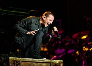 联合公园主唱查斯特‧班宁顿资料照。  (Christopher Polk/Getty Images)