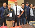 7月26日,旧金山消防局在米慎区举办消防展。(李文净/大纪元)