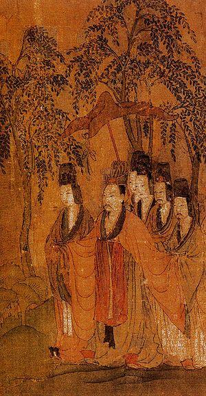 曹植全身画像,顾恺之《洛神赋图》。(公有领域)