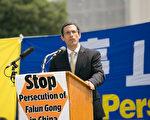 """""""美国国际宗教自由委员会""""(USCIRF)主席丹尼尔·马克(Daniel Mark)表示,美国政府应采取行动,向中共施压,敦促其停止对法轮功的迫害。(李莎/大纪元)"""