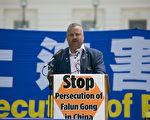 新泽西州众议员唐纳德·佩恩(Donald Payne)表示,任何人都有信仰自由的权利,政府无权干涉。(李莎/大纪元)