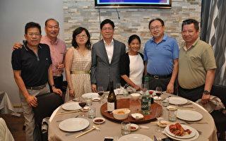 張大使夫婦與臺商僑領合影(駐法國台北代表處提供)