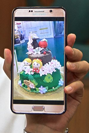 陈心纭参加杏仁膏装饰蛋糕国际大赛夺金。(许享富/大纪元)