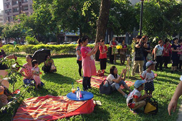 台中巿舉辦親子培力活動「我們來野餐」,吸引100戶家庭、300名大小朋友同樂。(台中市政府提供)