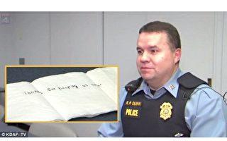 一张神奇的餐巾纸 挽救警察疲惫的心