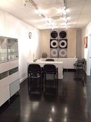 周子中医养生堂的会诊场所。(湾区中医周子中医养生堂提供)