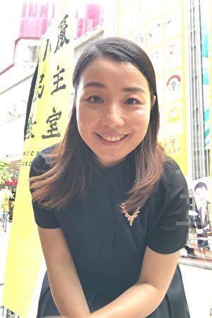 立法會議員劉小麗希望藉著今天的遊行,告訴中共暴政,香港人是不會怕它們的.(黃瑞秋/大紀元)