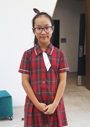 與郁金同校的五年級學生Grace Cha也是第一次參加這個活動。(徐凱文/大紀元)
