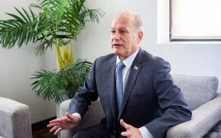 昨天(7月6日),共和党籍市长参选人德拉富恩特访问大纪元媒体集团总部,详述了他的竞选理念。 (Peter Stavb/大纪元)