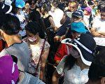 7月10日,黑龍江、吉林、遼寧、內蒙古、四川、山東等地的2000名未分配中專生進京上訪。(受訪者提供)