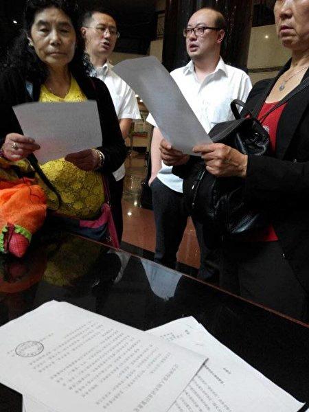 7月13日,陝西泛亞受害人到長安縣長安工作組維權提出二個訴求。(志願者提供)