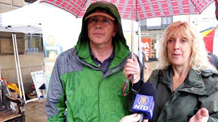 """Patrick夫妇接受采访表示:""""这是谋杀,比迫害更过分。""""(新唐人电视台)"""