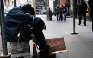 數據顯示,流落紐約街頭的遊民正迅速增加。 (Spencer Platt/Getty Images)