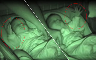 手如弹簧压不下 宝宝熟睡还能逗爸爸 爆笑