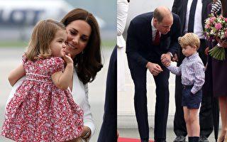 首访波兰 夏洛特公主甜笑获赞 乔治王子闹脾气挨训