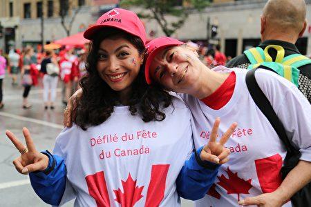国庆日是加拿大各族裔共同欢庆的日子。(任乔生 / 大纪元)