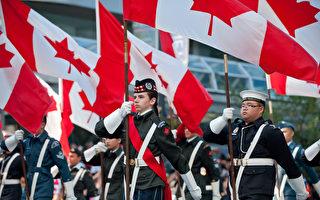 圖說:2017年7月2日,溫哥華歡慶加拿大150歲生日大遊行。(攝影:大宇/大紀元)