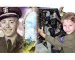 美国男童莱宁格在快4岁时,开始做飞机坠毁和起火的噩梦,后来他说自己过去也叫詹姆斯,是一位飞行员,在硫磺岛战役中飞机被日军击落——与二战中殉难的美国海军飞行员詹姆斯‧哈斯顿(James Huston,左)情况相符。两人长得也有几分像。(视频截图/大纪元合成)