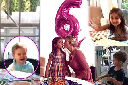 川普外孫女阿拉貝拉慶祝6歲生日,媽媽為她舉辦派對,弟弟西奧多用大哭搶鏡。(視頻截圖/大紀元合成)