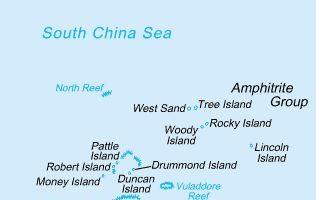 一名美國海軍官員表示,美國史塔森號(USS Stethem)逐艦週日(7月2日)駛入南海西沙群島中建島(Triton Island)的12海里範圍內,執行自由航行任務。(維基百科公有領域)