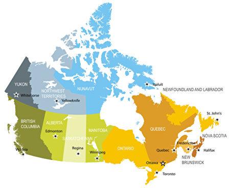 加拿大地图。(Fotolia)