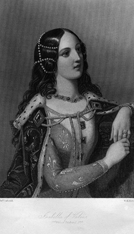 1408, Isabella of France (1389 - 1409), 2nd wife of Richard II of England.