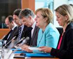 7月5日,德國總理默克爾在與趕來參加G20的習近平進行會談。(Michael Ukas - Pool /Getty Images)