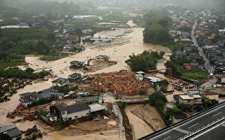 日本九州创纪录豪雨 2人死40万人避难