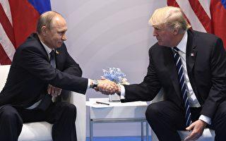 美國總統川普(特朗普)週日(7月9日)發表推文,透露他與俄羅斯總統普京在G20峰會期間舉行會談的部分內容。(Photo credit should read SAUL LOEB/AFP/Getty Images)