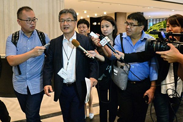 """尹汝尚的第一站是来到""""东北亚合作对话""""(NEACD)。 (ROSLAN RAHMAN/AFP/Getty Images)"""