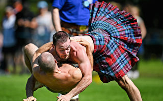 男子勇武 蘇格蘭短裙飛揚的高地運動會