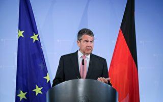 2017年7月20日,德国外交部长加里布尔在柏林发表声明,要重新制定对土耳其的政策。两国原本紧张的关系进一步恶化。(KAY NIETFELD/AFP/Getty Images)