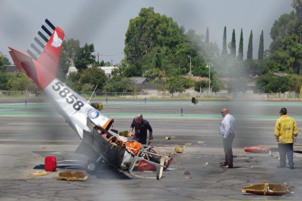 7月14日(星期五)上午,位於洛杉磯艾爾蒙地市(El Monte)的聖蓋博谷機場(San Gabriel Valley Airport)發生私人小飛機機毀人亡的事件。警方確認,死者是旅居洛杉磯的台灣飛行冒險家應天華。(劉菲/大紀元)