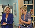 川普总统的顾问伊万卡和美国教育部长德沃斯鼓励女生学习STEM专业。(林乐予/大纪元)