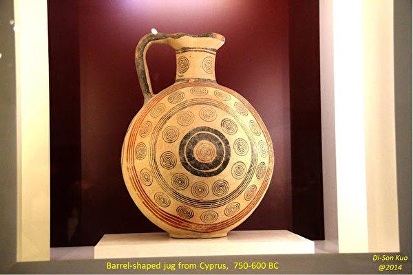 雅典國家考古博物館陶繪品。(行雲提供)