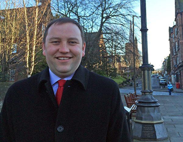 """图说: 英国国会议员Ian Murray认为""""国际社会应一致反对迫害法轮功""""。(维基百科)"""