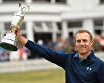 23岁美国选手乔丹‧斯皮思在英国高球公开赛上,以268杆,低于标准杆12杆,赢得个人第三场大满贯赛胜利。(ANDY BUCHANAN/AFP/Getty Images)