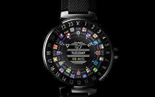 路易威登(Louis Vuitton, LV)新推出的时尚智能手表——Tambour Horizon。(LV提供)