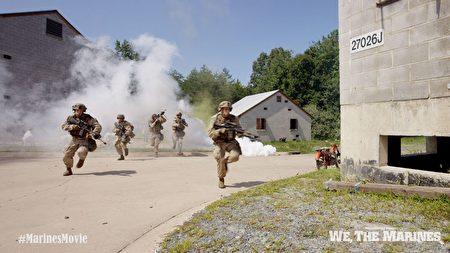"""""""我们是海军陆战队""""剧照:小队演习训练。(海军陆战队博物馆提供)"""