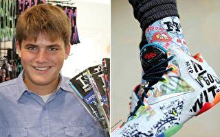 17歲高中生設計製作個性運動襪 年銷售破百萬