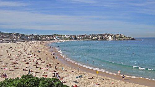 澳洲最著名海灘之一的悉尼邦代海灘。(Lee Mcgilviray/CC/Pixabay)