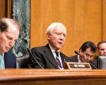 美国参议院财政委员会主席哈奇提出税务改革的第四个目标:美国的竞争力。(石青云/大纪元)