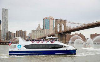 紐約市渡輪服務從五月營運以來,已突破了一百萬人次搭乘。 (Drew Angerer/Getty Images)