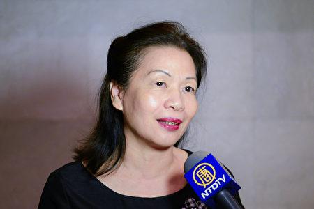 台中市醫界聯盟理事長蘇勳璧博士表示,沒想到蔦松的孩子們能吃這樣的苦,從孩子們身上她看到了真、善、忍的精神。(龔安妮/大紀元)