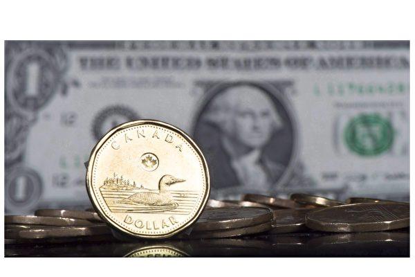 加元兑美元涨至79分。(加通社)