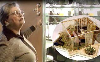 美国老妇人用了10年时间改造自家房屋,建成世界上第一栋自清洁房屋。(视频截图/大纪元合成)