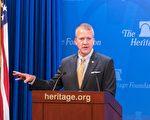 阿拉斯加州参议员萨利文于7月26日参加华府智库传统基金会时表示,为了应对朝鲜不断升级的核威胁,增强美国的导弹防御系统十分重要。 (石青云/大纪元)