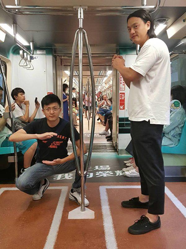 捷运世大运车厢。(台北市观传局提供)