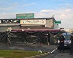 8月14日(周一)晚上8点左右,一名32岁男子,在巴黎以东55公里的赛特索市(Sept-Sorts)驾车冲进一家披萨店,造成1名13岁的少女当场死亡,另有13人受伤,其中5人受伤严重。图为事发地点的披萨店。(Sarah BRETHES/AFP)